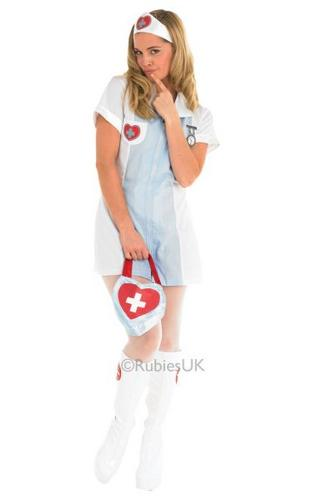 Nurse Fancy Dress Costume Thumbnail 1