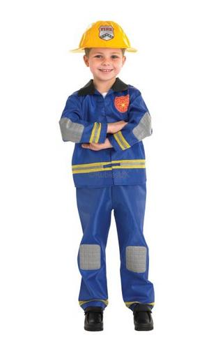 Kids Fireman Fancy Dress Costume Thumbnail 1