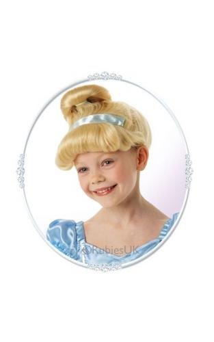 Girls Cinderella Fancy Dress Wig Thumbnail 1