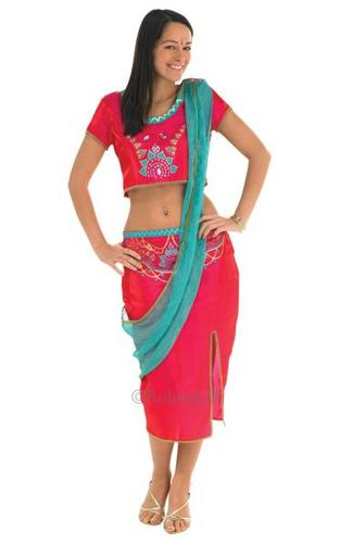 Bollywood Starlet Red Fancy Dress Costume Thumbnail 1