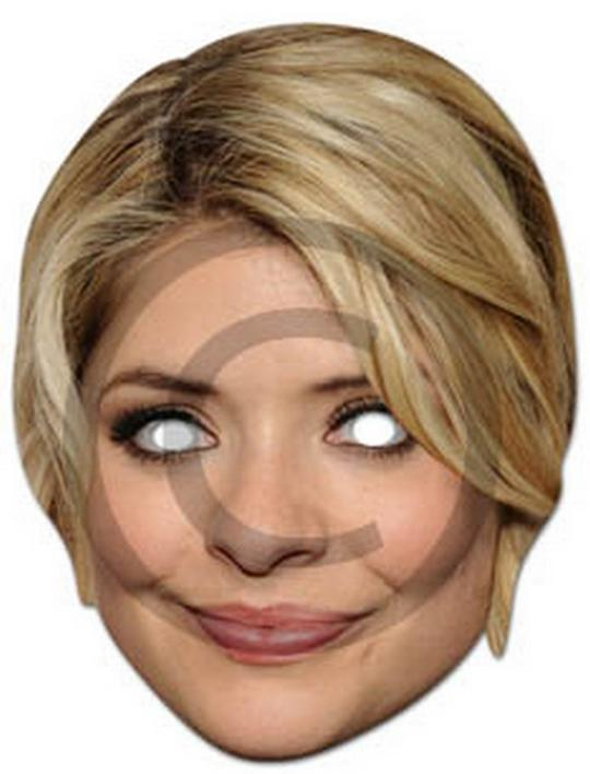 Holly Willoughby Cardboard Mask Thumbnail 1
