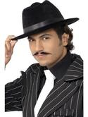 Gangster Fancy Dress Hat Black