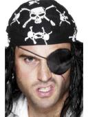 SALE! Deluxe Pirate Black Satin Eyepatch Fancy Dress Costume Party Accessory