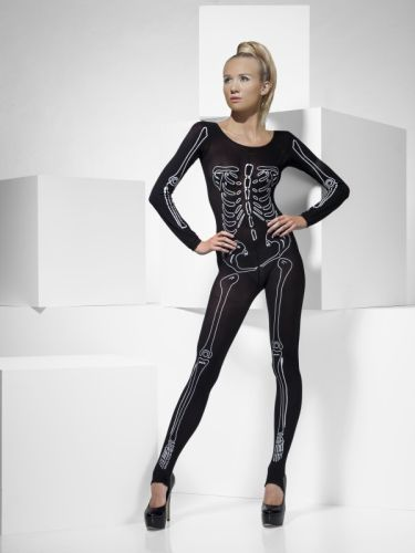 Ladies Skeleton Print Bodysuit