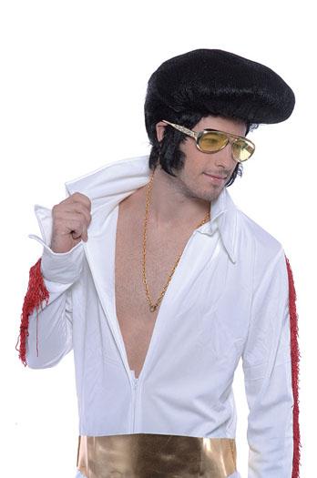 Elvis Wig. Deluxe, High Quiff