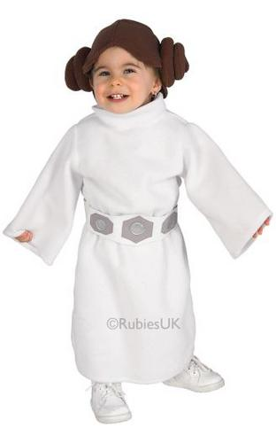 Baby Princess Leia Fancy Dress Costume Thumbnail 1
