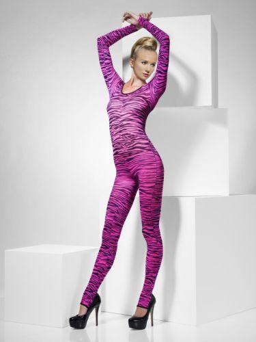 Zebra Print Neon Pink Bodysuit Thumbnail 1