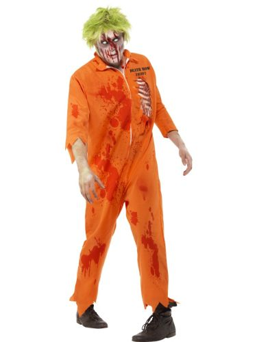 Male Zombie Death Row Inmate Costume Thumbnail 1