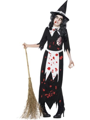 Adult Zombie Authentic Salem Witch Costume Thumbnail 1