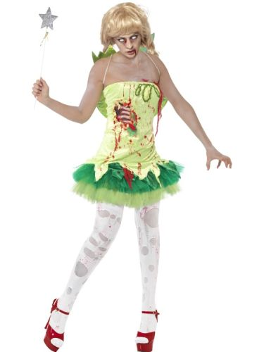 Ladies Zombie Fairy Costume Thumbnail 1
