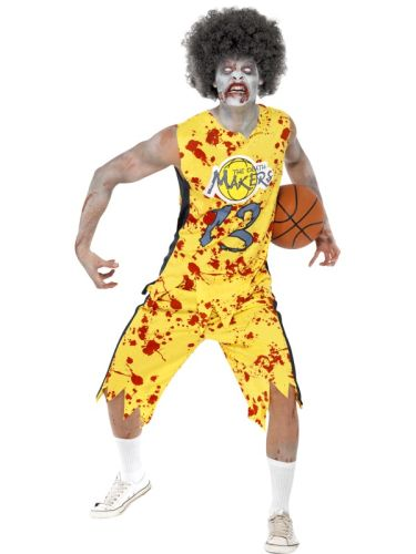 Adult High School Horror Zombie Basketball Player Thumbnail 1