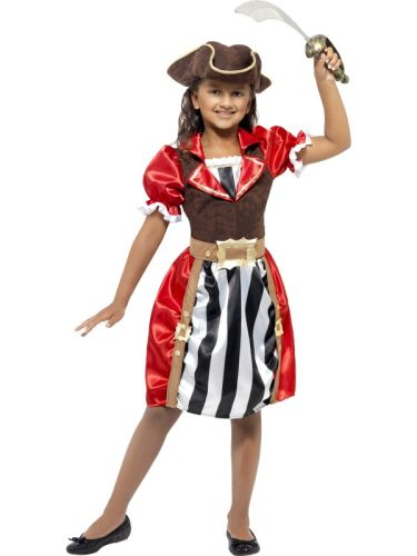 Girls Pirate Captain Costume Thumbnail 1