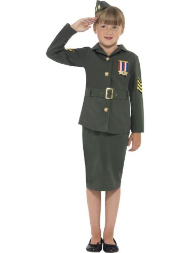 WW2 Army Girl Costume Thumbnail 1