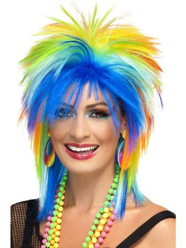 80's Rainbow Punk Wig Thumbnail 1