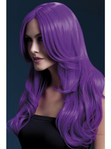 Fever Khloe Wig Neon Purple Thumbnail 1