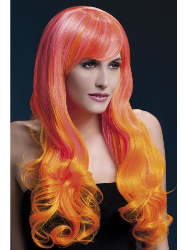 Fever Emily Wig Pink and Orange Thumbnail 1