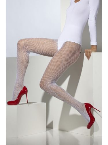 Fishnet Tights White Thumbnail 1