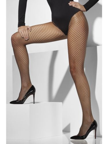 Lattice Net Tights Black Thumbnail 1