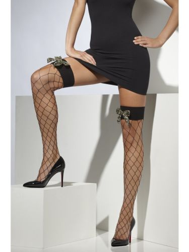 Diamond Net Hold Ups With Camo Bow Thumbnail 1