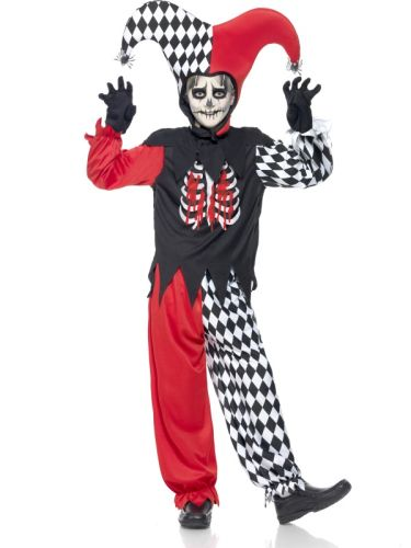 Childs Blood Curdling Jester Costume Thumbnail 1
