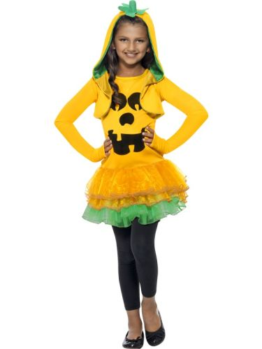 Girls Pumpkin Tutu Dress Costume Thumbnail 1