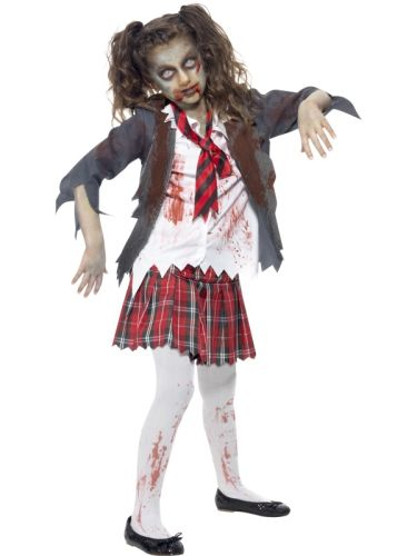 Childs Zombie School Girl Costume Thumbnail 1