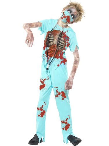 Childs Zombie Surgeon Costume Thumbnail 1