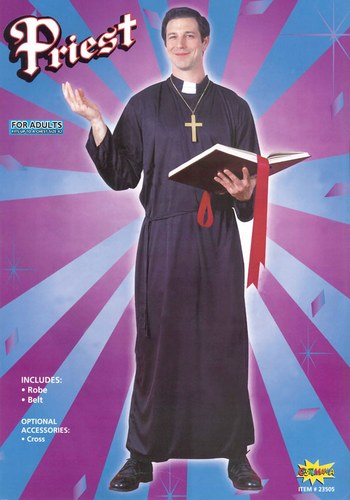 Men's Priest Fancy Dress Costume  Thumbnail 1