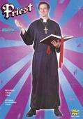 Men's Priest Fancy Dress Costume