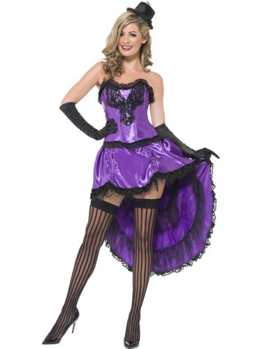 Adults Purple Burlesque Glamour costume Thumbnail 1