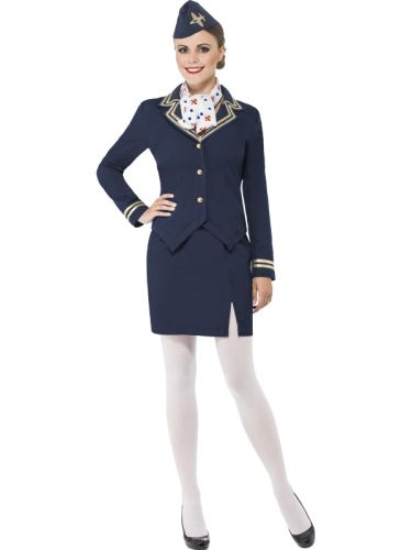 Airways Attendant Costume Thumbnail 1