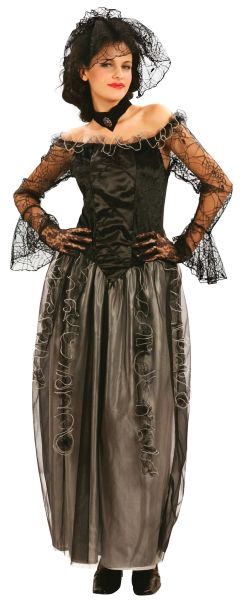 Ladies Black Widow Long Dress