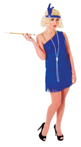 Adult Blue Flapper Dress