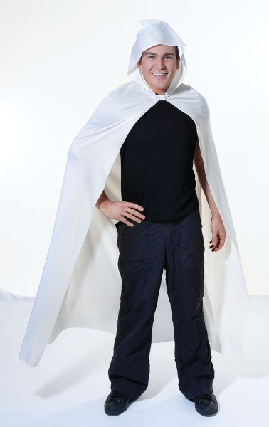 Adult Long White Hooded Cape