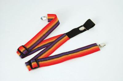 Clown Braces. Rainbow colours