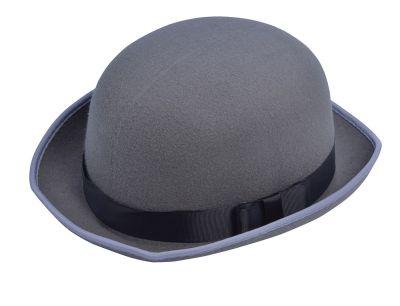 Grey Bowler Hat