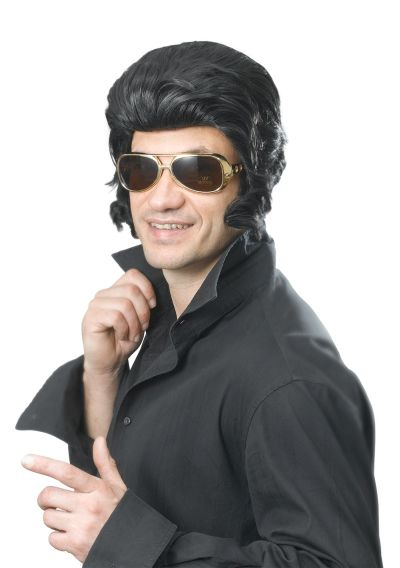 Elvis Wig & Big Sideburns