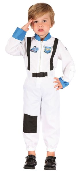 Child Spaceman Astronaut Space Suit Boys Book Fancy Dress Kids Toddler Costume