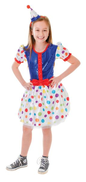 Childs Clown Dress Costume