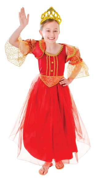 Childs Red Princess Costume