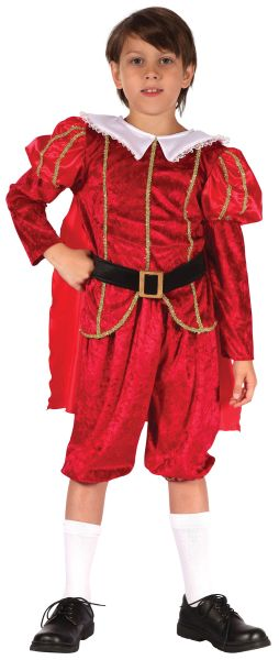 SALE! Kids Medieval Royal Tudor Prince Boys Book Week Fancy Dress Childs Costume