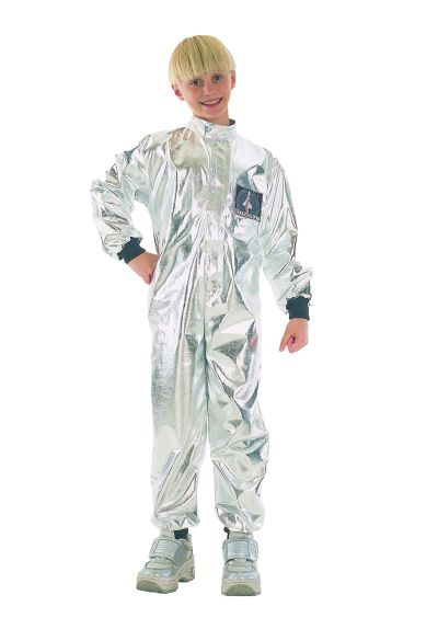 Childs Silver Astronaut  Costume