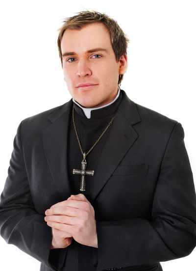 Priest Shirt Front With Collar