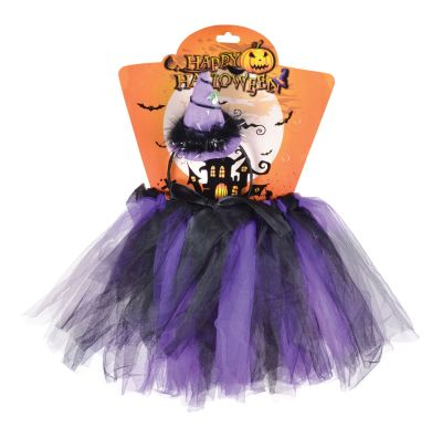 Childs  Black/Purple Witch Tutu Kit