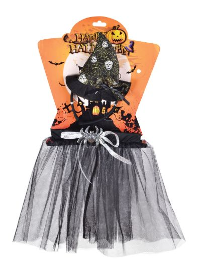 Childs Witch Tutu With Spider