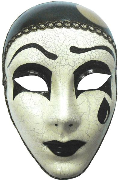 Mime Mask With Tear