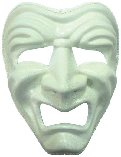 Sad Mask. White