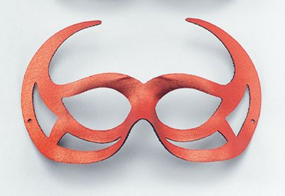 Red Demon Domino Eye Mask
