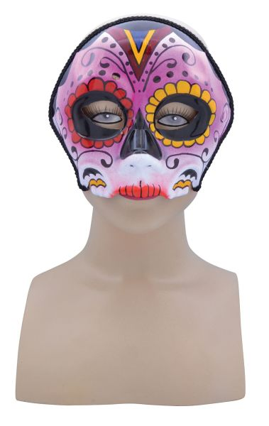 Pink Mix Sugar Skull Mask