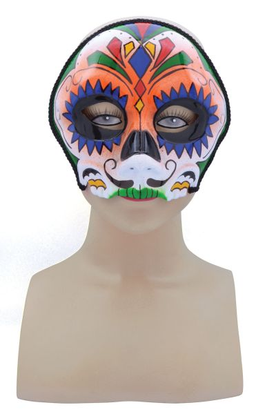 Orange Mix Sugar Skull Mask
